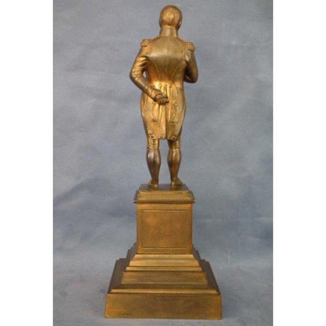 Antique Large Gild Bronze Sculpture of Emperor Napoleon Bonaparte