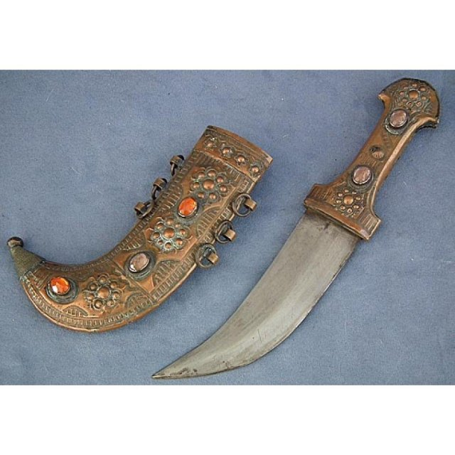 SOLD Antique Arabian Islamic Syrian Arab dagger Arabic Jambiya