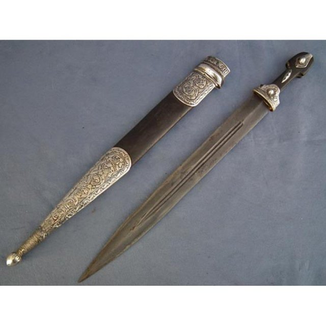 Antique Russian Cossack Caucasian Dagger sword Kindja