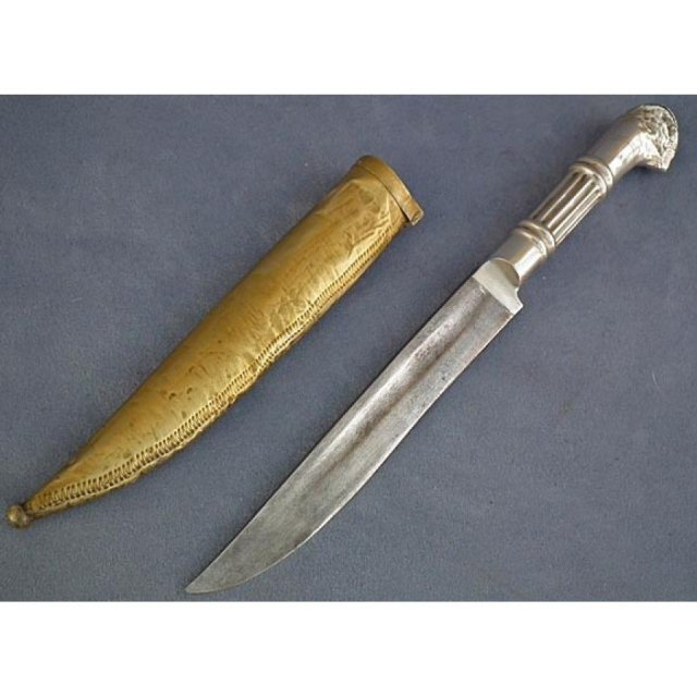 SOLD Antique Turkish Ottoman Balkan Dagger Bichaq 19th c