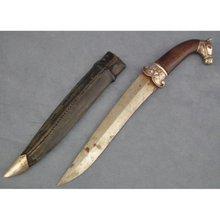 Antique Indo Persian Islamic Mughal Silver Dagger Khanjar