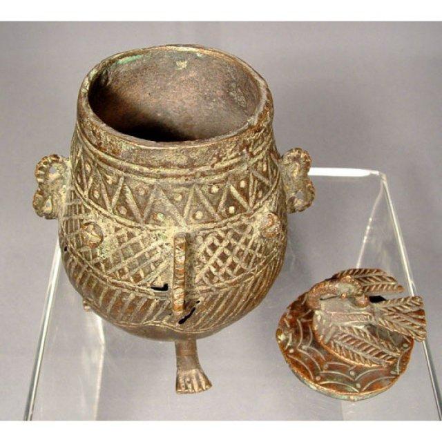 Antique Indian Bronze Jar 19th Century India