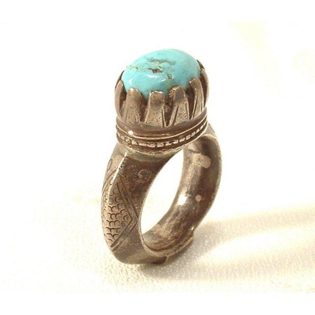 Antique Islamic Timurid Silver Ring 14th c