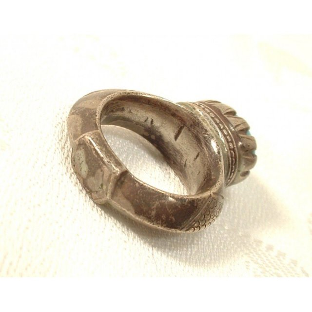 Antique Islamic Timurid Silver Ring 14th c