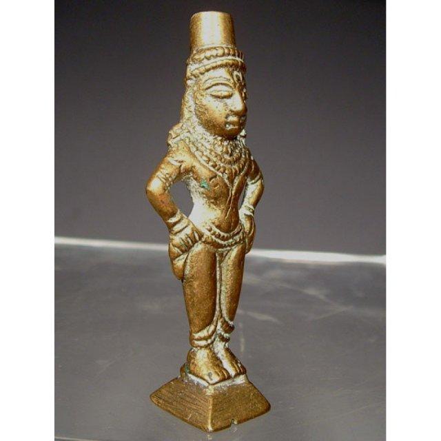 Antique Indian Hindu Brass Deity Amulet 18th - 19th c