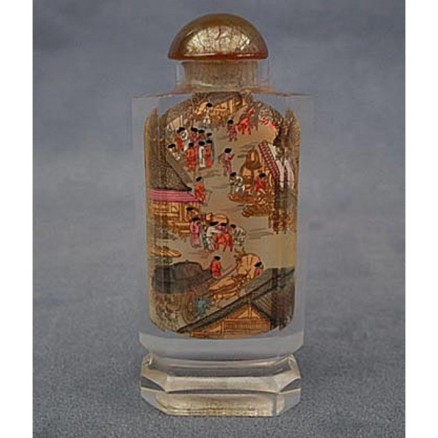 Chinese Inside Painted Glass Snuff Bottle