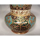 SOLD Antique Islamic Indian Mughal Enameled Gilt Copper Vase 18th c