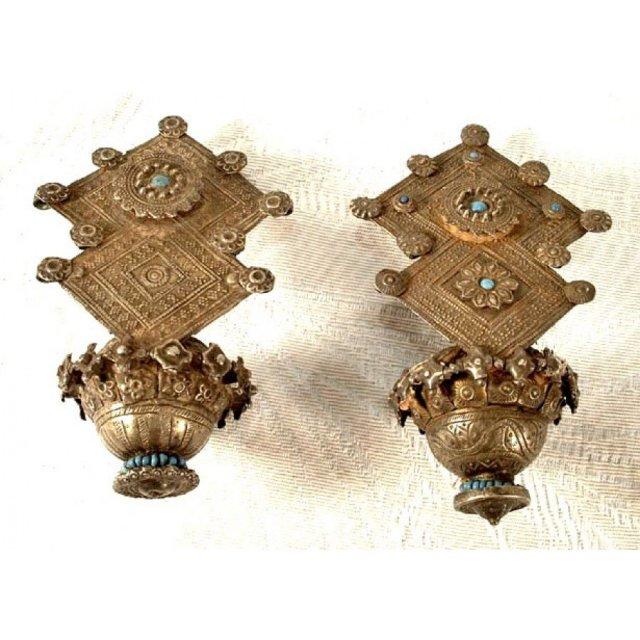 Antique Islamic Silver Earrings 19th century