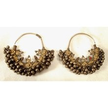 SOLD Antique Persian Islamic Silver Earrings 19th c