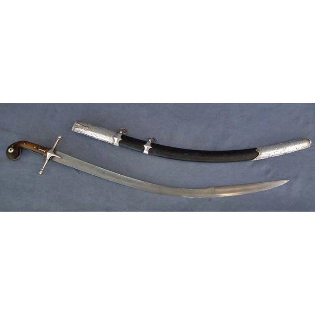 Rare Antique Turkish Ottoman Sword Kilij with 17th century Blade Damascus steel Wootz