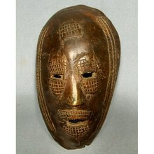 Antique African Bronze Mask circa 1900
