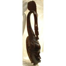 SOLD Old African Wooden Mask Ivory Coast