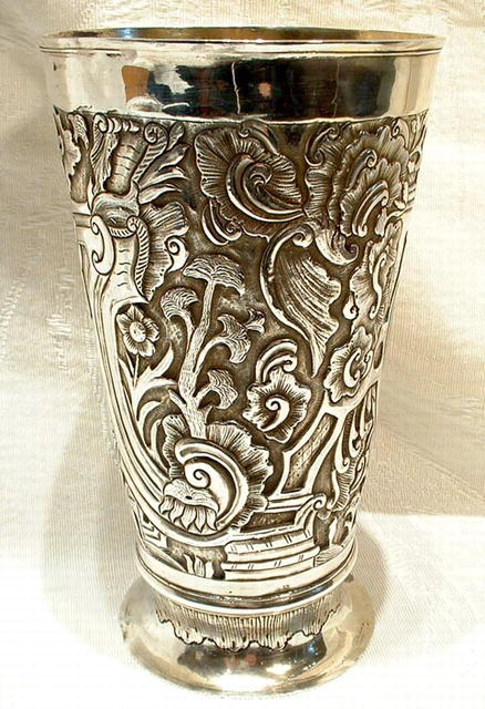 Antique Russian Silver Wine Beaker 18th Century