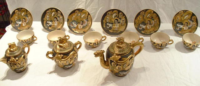 Antique Satsuma Tea Service Mejii Period, 1890