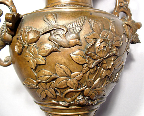 Antique Japanese Bronze Censer, Meiji Period