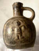 Inca Ceramic Jug with figure of priest about A.D. 1500 from Peru