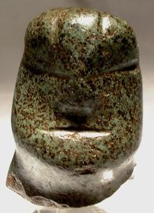 Pre-Columbian Mezcala Stone Head 300 BC