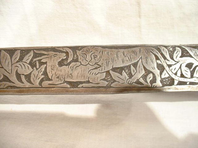 Indo Persian Tulwar Sword tigers 18th century