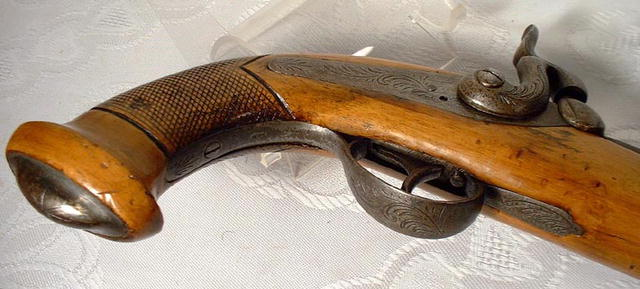Antique Belgium Percussion Pistol, 19th cen