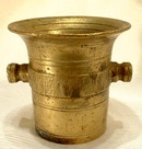 19th century Miniature pharmaceutical Brass Mortar