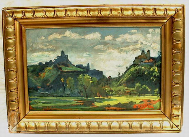 Landscape Oil Painting by Kasriel 1931