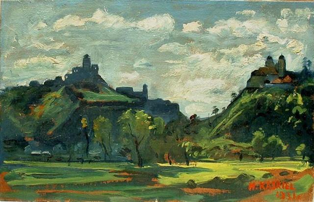 Landscape Oil Painting by Kasriel 1931