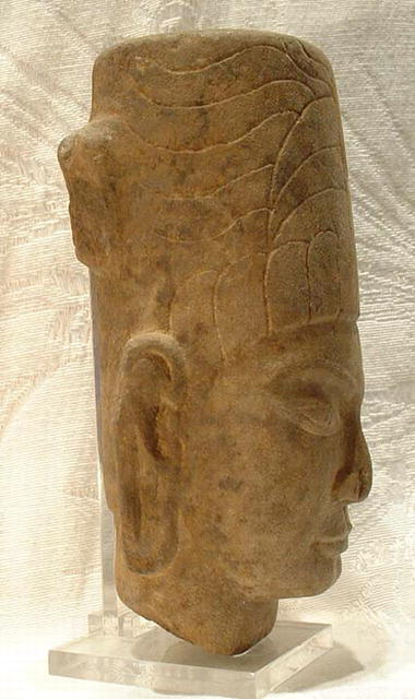 Antique Sandstone Khmer Head, pre-Angkor Era