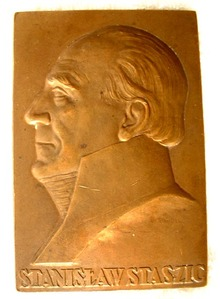 Polish Bronze Plaque of Staszic by J. Aumiller