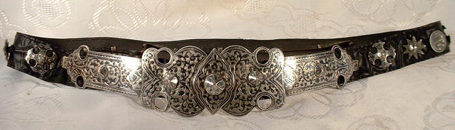 Antique Russian Cossack Silver Belt ,19th c.