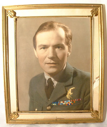 WWII Polish Air Force Officer in Uniform Photo Poland