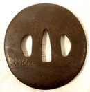 Antique TSUBA WITH DARUMA PATTERN, Edo period