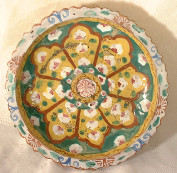 Benjarong stem dish, early Bangkok , 19th centu