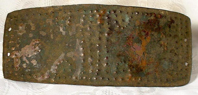 Ancient Bronze Celtic Belt Buckle, 2nd century