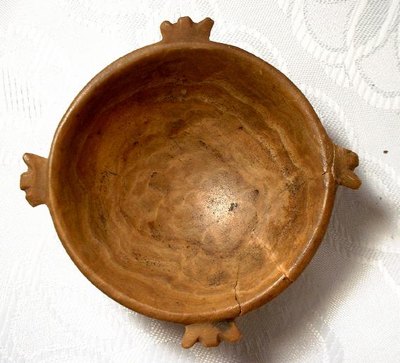 Antique Egyptian Alabaster Makeup Dish, 1500 BC