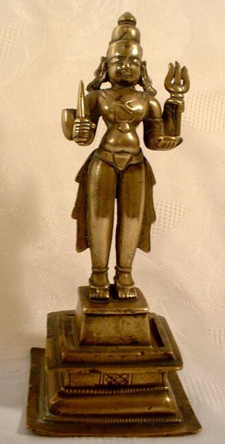 17TH CENTURY INDIAN BRONZE FIGURE OF SHIVA