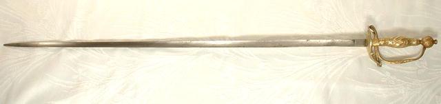European Small Sword Rapier,  18th Century