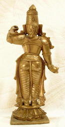 18TH CENTURY INDIAN HINDU GILDED BRASS FIGURE