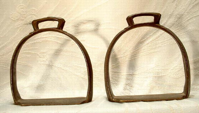 Antique Islamic Bronze Stirrups, 18th Century