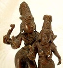 19th century Hindu Bronze of Shiva & Parvati