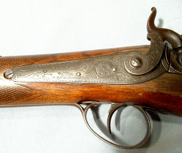Antique Percussion Gun Rifle Wilson, 19th Century