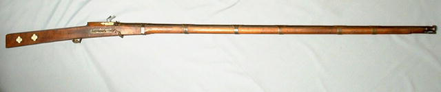 ANTIQUE INDIAN MATCHLOCK GUN TORADAR, 18th century