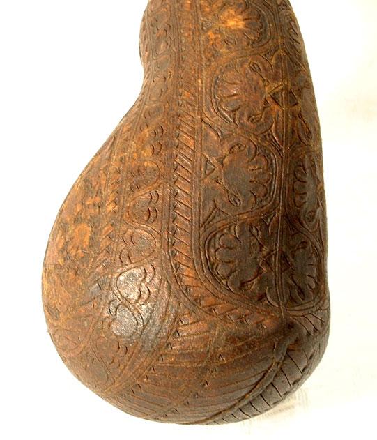 Antique 18th century Gun Powder leather Flask