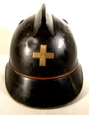 Antique  Swiss Fireman Helmet, 19th Century