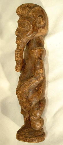 OLD AFRICAN WOODEN SCULPTURE