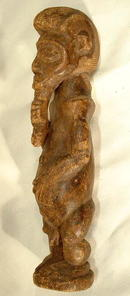 OLD AFRICAN WOODEN SCULPTURE