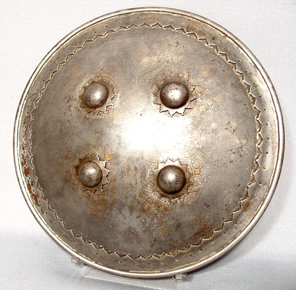 ANTIQUE INDO PERSIAN MUGHAL SHIELD ( BUCKLER )