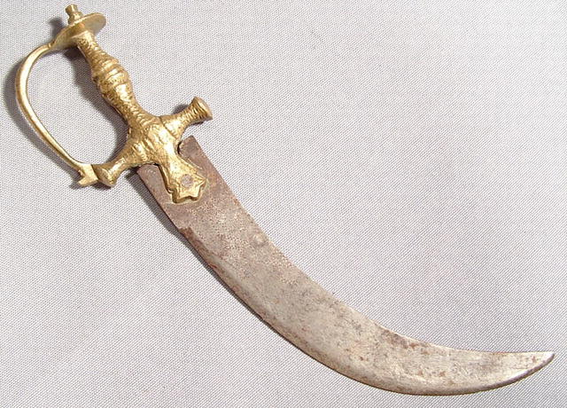 ANTIQUE INDO PERSIAN SIKH CEREMONIAL DAGGER KIRPAN