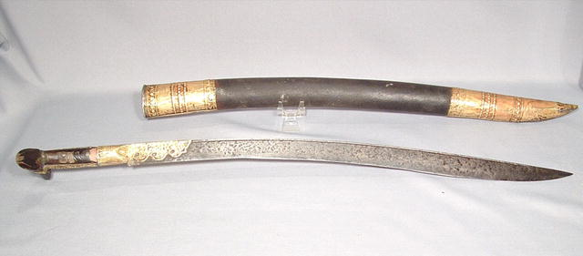 ANTIQUE ISLAMIC TURKISH SWORD YATAGAN