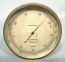 Antique Canadian Brass Barometer Altimeter, circa 1900