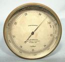 Antique Canadian Brass Barometer Altimeter, circa 1900